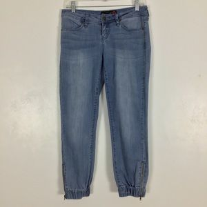 Guess Jogger Jeans Light Wash Blue Denim Ankle